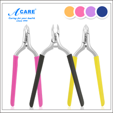 ACARE Anti Slip Silicone Handle Cuticle Cutter Stainless Steel Nail Cuticle Nippers Nail Scissors