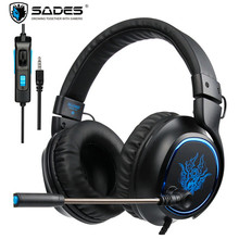 SADES R5 PS4 Headset Gamer Casque PC Gaming Headphones Stereo Earphone with Mic for Computer Xbox one Mobile Phone Laptop Mac