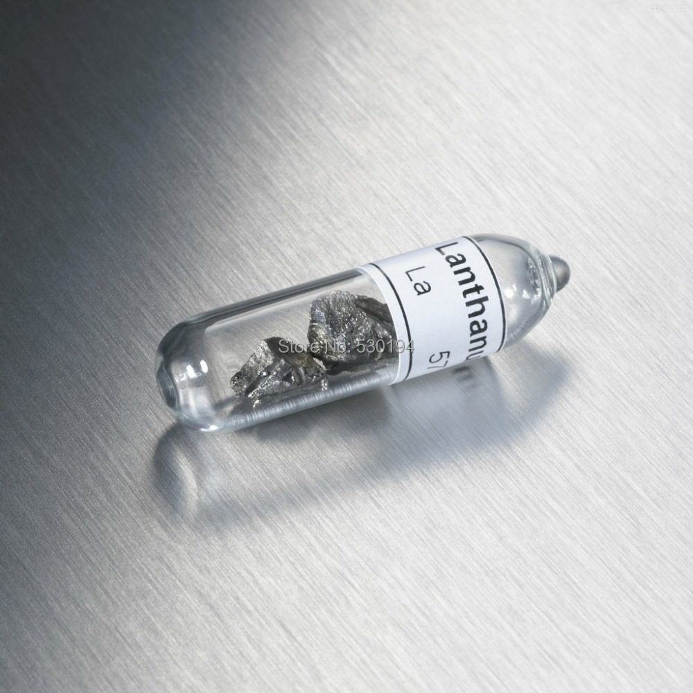 Lanthanum metal Turnings Reference Sample in sealed vial 10 gram dysprosium pure metal turnings reference sample in sealed vial 5 gram
