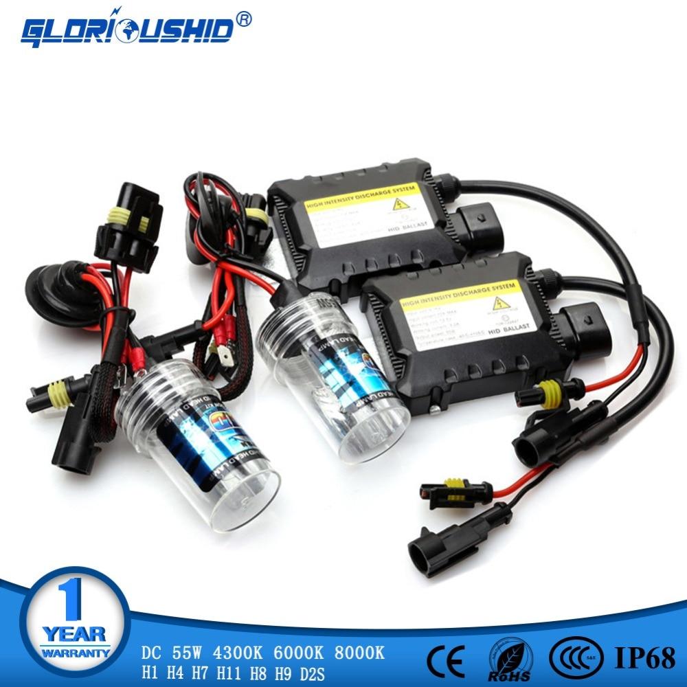 55W HID Xenon Kit H7 H4 H1 H8 H9 H11 D2S xenon hid ballast 4300K 6000K 8000K HID Xenon Light bulb Headlight Lamp 12V xenon H7 12v 55w fast bright ballast single beam bulb hid kit h1 h3 h4 h7 h8 h9 h10 9004 9006 881 880 kit xenon hid h7 55w 8000k