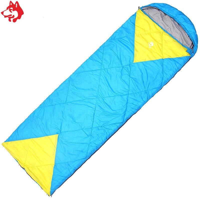 CY-0902 modro / zeleno spajanje dveh oseb spalna vreča pomlad - Kampiranje in pohodništvo