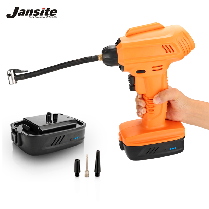 Jansite Car Air Compressor Pump Cordless Inflator Digital Display Auto 2400mah battery Tire Inflatable for Car Motorcycles bike