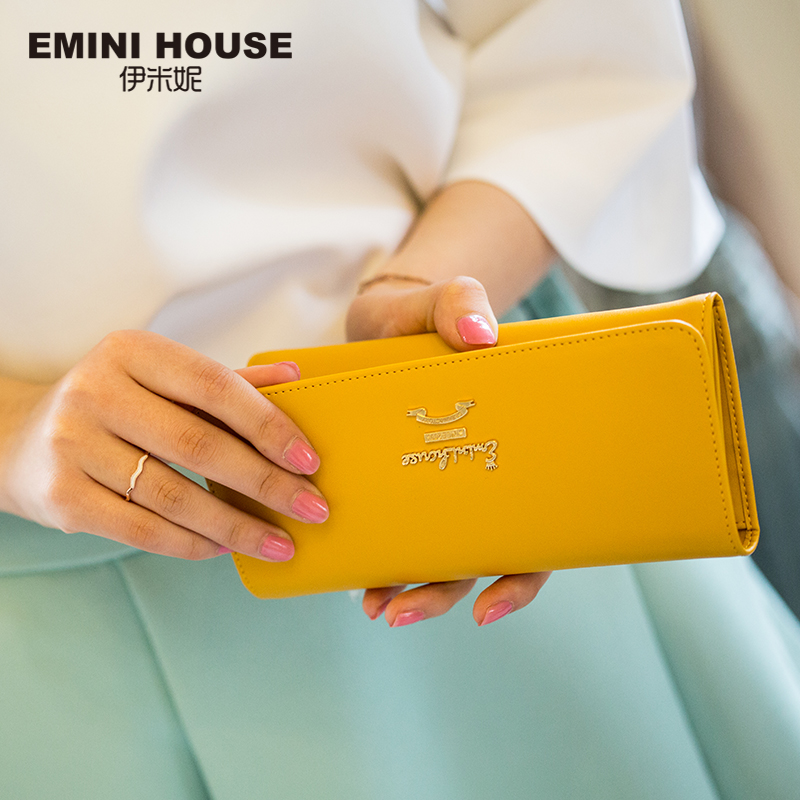 carteira nova simples mulheres carteiras Size : About 18.5cm*9cm*1.5cm