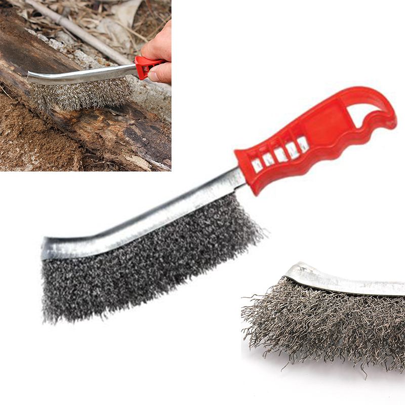 US $3 42 42% OFF|Tools Brush Steel For Metal Rust Hand Stainless Wire  Cleaning Removal Welding Prep Red+Silver Workshop Seam Hot-in Brush from  Tools