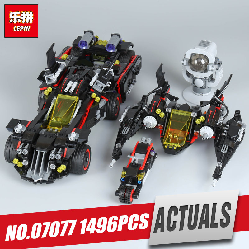 Lepin 07077 Genuine Batman Movie Series The Ultimate Batmobile Set Educational Building Blocks Bricks Toys Model legoing 70917 stzhou lepin batman 559pcs genuine superhero movie series the batman robbin s mobile set lepin building blocks bricks toys