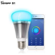 Sonoff B1 חכם Wifi מנורת E27 Dimmable צבעוני LED מנורת RGB צבע אור APP WIFI שלט רחוק באמצעות IOS אנדרואיד עבור בתים חכמים