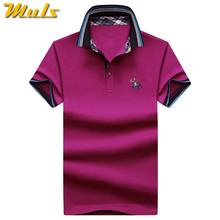 12be8f7df 9Color Horse Polo men quality cotton summer brand short riding man polos  male clothing 4XL large