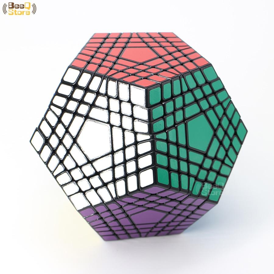 Shengshou Wumofang 7x7x7 Cube magique Teraminx 7x7 professionnel Dodecahedron Cube Twist Puzzle jouets éducatifs - 2