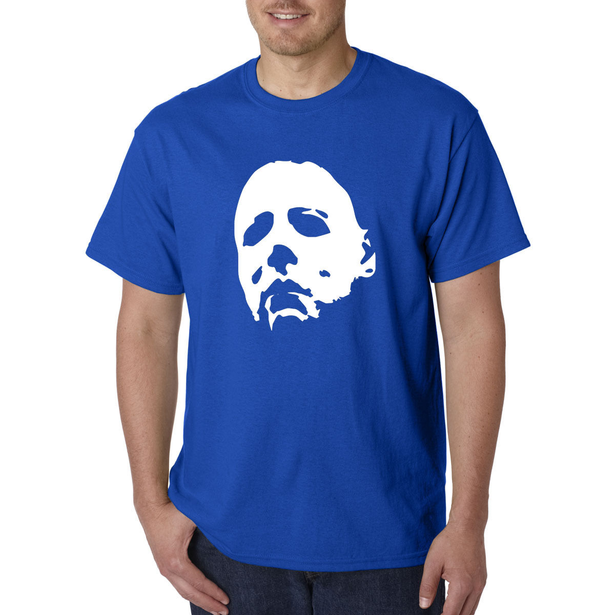 2018 Hot Sale 100% Cotton HALLOWEEN Mask T-Shirt - Michael Myers Horror 1978 Jason Freddy Movie Horror Tee Shirt