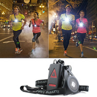 LED Night Light Safety Warning Night Waterproof Lamps Running Jogging Chest LED Light Flashlight Bike Bicycle