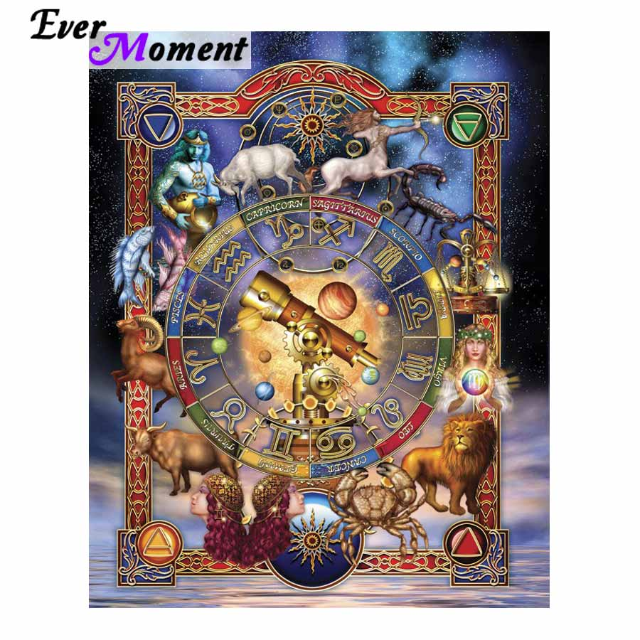 Diy diamond painting constellation 12 zodiac embroidery painting rhinestones full square painting wall picture home decor ASF787