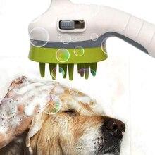 3 цвета, насадка для душа для домашних животных, щетка для ванны, для собак, кошек, гребень для душа, аксессуары для мытья домашних животных, спринклерная насадка для животных, для мытья собак, для душа