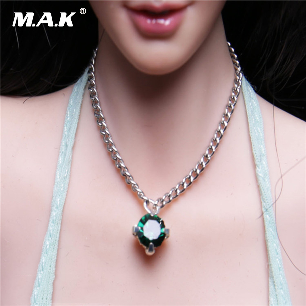 """1//6 Women/'s Silver Necklace Model For 12/"""" Female Action Figure Doll Toy"""