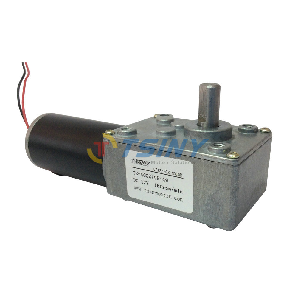 High Speed Dc 12v 160r Dc Worm Gear Motor Electric Geared