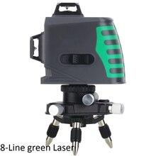 8 12 Lines Green Laser Level Self-leveling Alignment Precise Measurement Horizontal 360 Degree Rotary 3D Wall Level Accessories цена в Москве и Питере