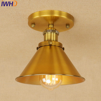 IWHD Retro Ceiling Light Bedroom Kitchen Ceiling Lights For Living Room Lamp Lamparas de Techo Vintage Home Lighting Fixtures