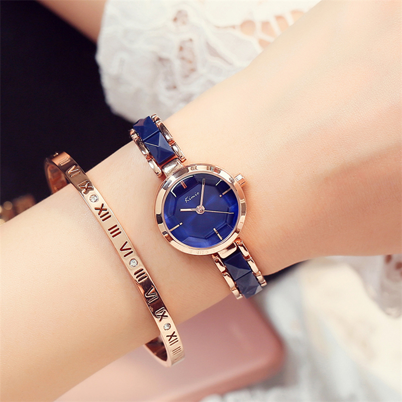 KIMIO NEW Brand Imitation Ceramic Gold Watches Women Fashion Watch Luxury Quartz-watch Wristwatches Women's Watches For Women