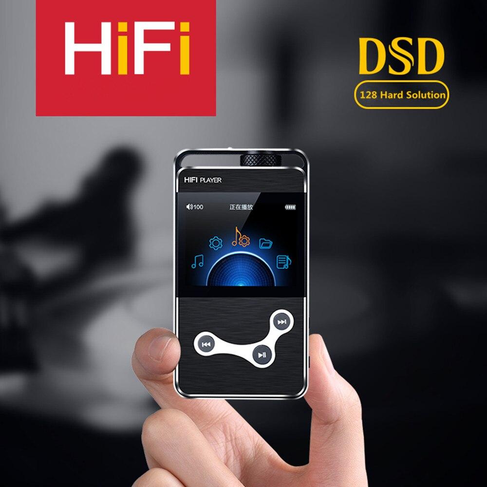Plus récent BRICOLAGE ZIKU HK-X9 2.4 pouce Écran Musique Sans Perte MP3 HiFi Lecteur de Musique prend en Charge Ampli Casque/Mobile OTG DSD128 solution dure