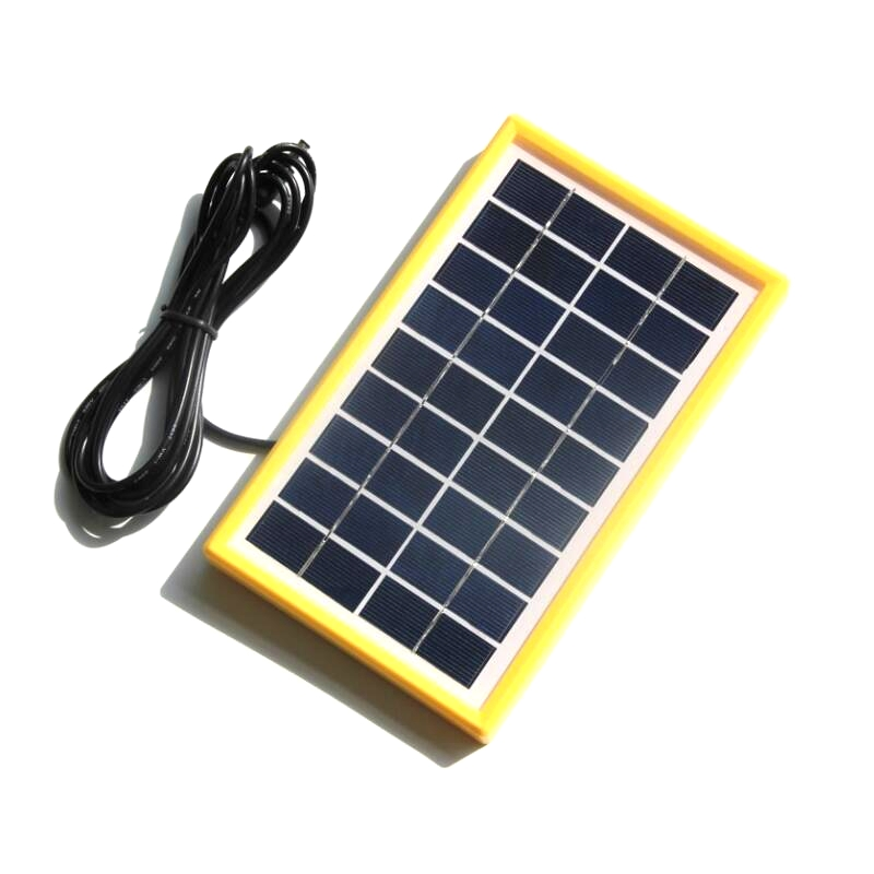 Wholesale! 10PCS/Lot 3W 9V Polycrystalline Glass Solar Cell With 3M DC 5521 Cable DIY Solar Panel System For 9V Battery Charger