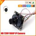 Mini cámara IP Security HD 720 P / 960 P 1.0 / 1.3 megapíxeles cámara IP CCTV con IR Cut Filter P2P ONVIF H.264 opinión de teléfono móvil