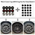3 вида цветов колпачки для ступицы колеса из нержавеющей стали + 20 шт. колпачки для гаек для Tesla модель 3 18-20