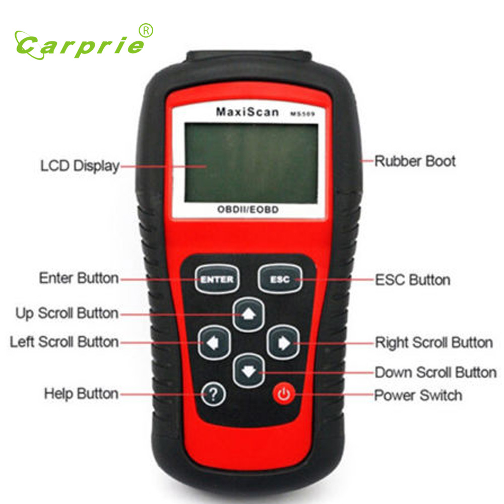 Auto car-styling Autos for EOBD for OBD2 for OBDII Live Data Code Reader Diagnostic Scanner Engine for MS509 Kit Feb24