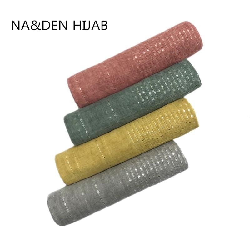 Plain solid glitter sparkling sequin women scarf scarves tassels shimmer hijab shawls muslim head scarf wraps