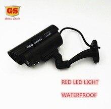GS Falso Maniquí Cámara de CCTV Cámara de Vigilancia A Prueba de agua Al Aire Libre Tienda de la Seguridad Casera de Interior Con Luz LED de La Cámara Falsa