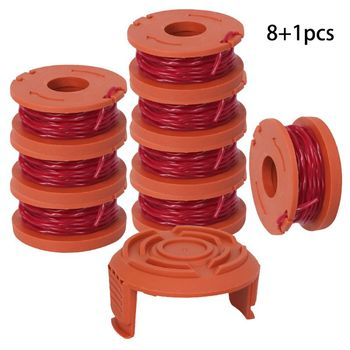 line string trimmer replacement spool 30ft 0 065inch replacement spool for black decker Line String Trimmer Replacement Spool 3M String Trimmer Spool Line for WORX, 9 Pack (8 Pack Grass Trimmer Line, 1 Trimmer Cap)