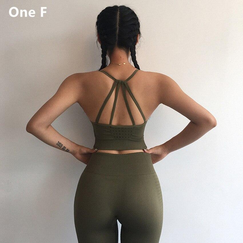 Di un F Reggiseno Sportivo Per Le Donne Palestra Regolabile Strappy Scava Fuori Sportswear Activewear Spinge Verso L'alto di Energia Senza Fili Senza Soluzione di Continuità Reggiseno di Yoga
