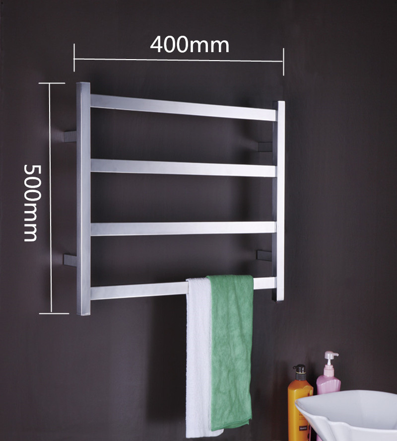 304# Stainless Steel Heated Towel Rail Electric Towel Warmer TW-RT1