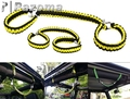PAZOMA Yellow and Black  Rollbar Paracord Grab Handles with D-Ring Shackles