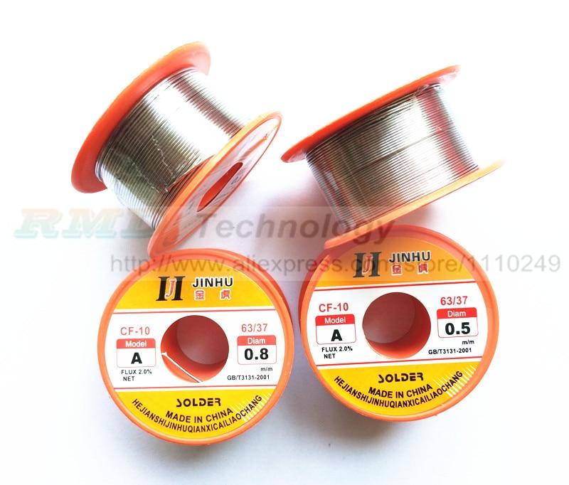 Essential 1 pcs 0.5mm 0.8mm Tin Lead Melt Rosin Core Flux Solder Soldering Welding Wire Reel free shipping  цены