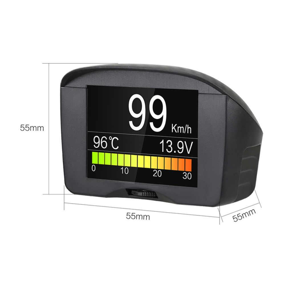 AUTOOL X50 플러스 HUD 헤드 업 디스플레이 다기능 자동차 OBD 스마트 디지털 미터 온도 게이지 알람 오류 코드 전압 속도