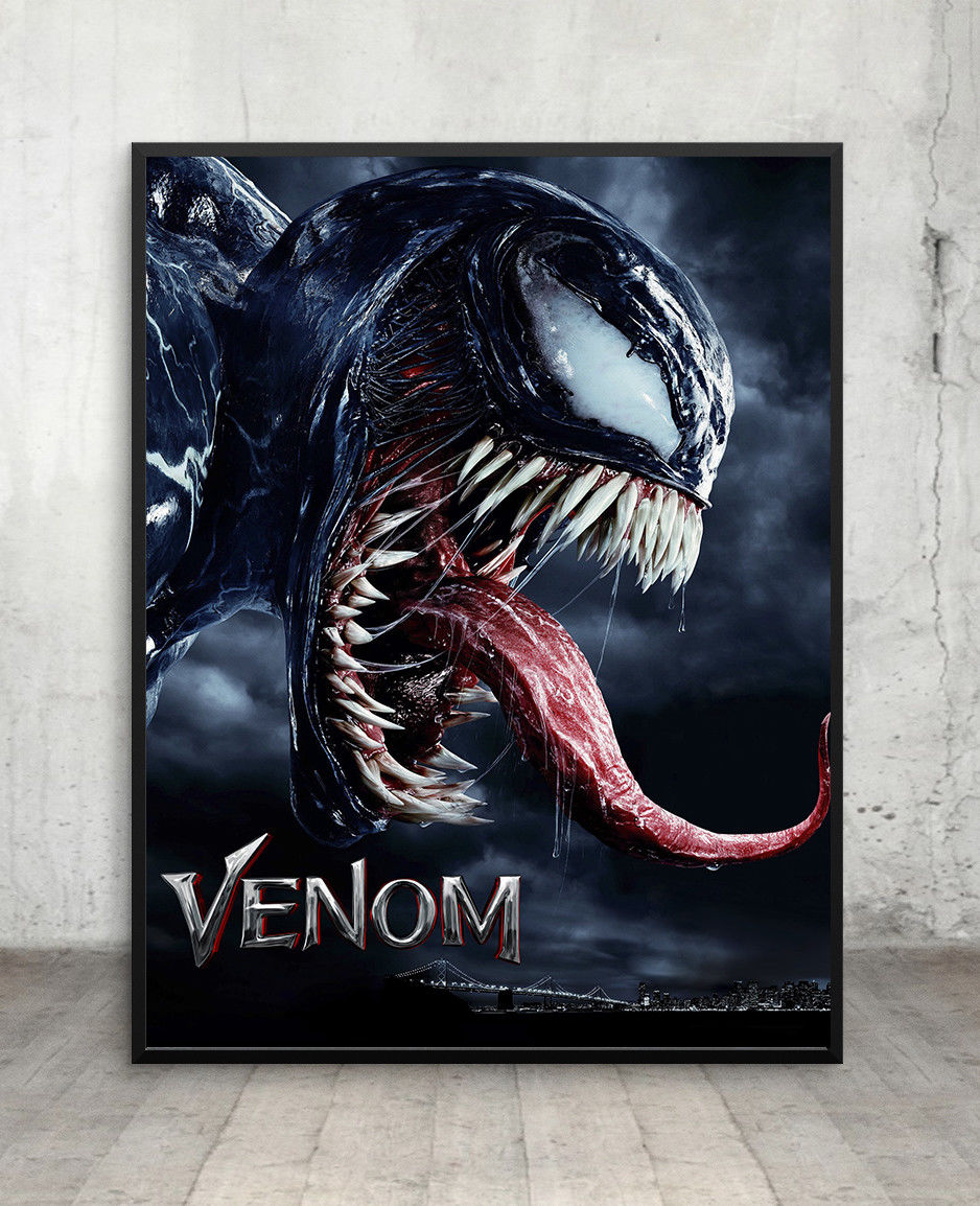 Us 2 76 25 offvenom movie poster wall art maxi print tom hardy marvel new films cinema in painting calligraphy from home garden on