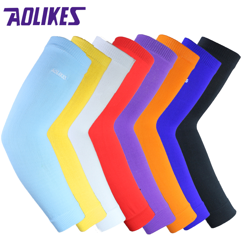 AOLIKES 1PCS Arm warmers Elastic Basketball Arm Sleeve Volleyball armband breathable cycling elbow pads support compression motorcycle cycling mtb elbow sleeve guards protective pads black padded elbow support brace arm guard gel pads