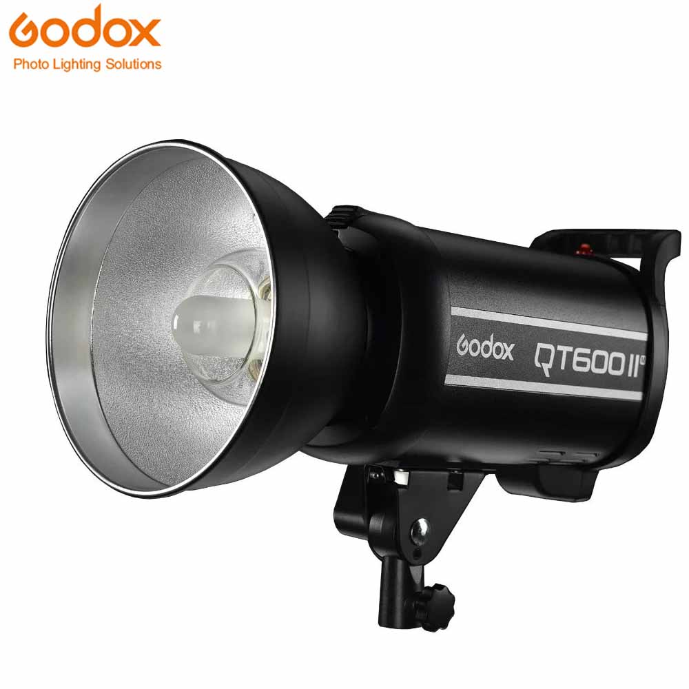 Godox QT600II 600W 600WS GN76 1/8000s High Speed Sync Flash Strobe Light with Built in 2.4G Wirless System godox qt 600iim qt600iim 600ws gn76 110v 1 8000s high speed sync flash strobe light with built in godox 2 4g wirless x system