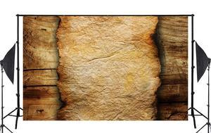 Image 2 - Piso de madeira e de Papel Queimado Estúdio Adereços Fundo Fotografia Retro Foto Cenário 5x7ft