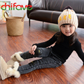 chifave 2017 New Autumn Winter Warm Denim Girls and Boys Jeans Thickening Elastic Waist Mid Skinny  Casual Jeans for Unisex Kids