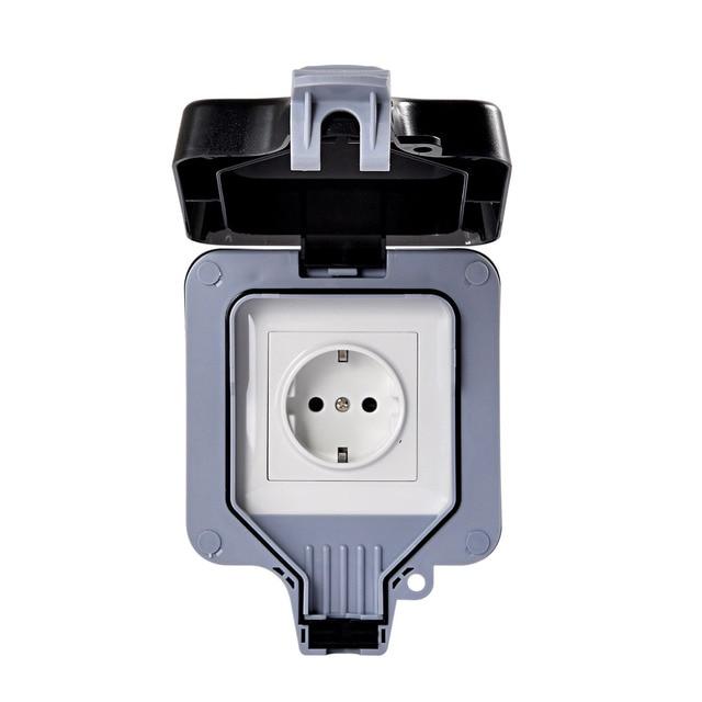 Ip66 16a Eu Standard Electrical Plug Outlet Weatherproof