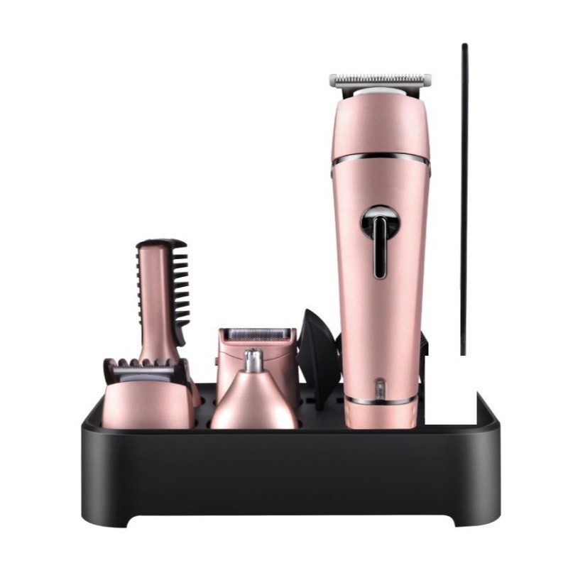 5 in 1 Grooming Kit Set Rechargeable Hair Clippers, Electric Beard Trimmer and Boday Shaver Sets Washable rechargeable hair trimmer with accessories set silver 220v ac