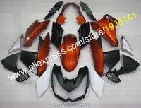 Hot Sales,Plastic parts For Kawasaki Z1000 2010 2011 2012 2013 fairings Z 1000 10 11 12 13 Orange black kit (Injection molding)