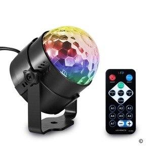 3 W RGB LED أضواء للمسرح الصوت المنشط الدورية ديسكو الكرة مصابيح حفلات ضوء إحترافي لعيد الميلاد الرئيسية KTV عيد الميلاد الزفاف تظهر