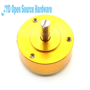 Image 1 - 1pcs WDD35D 4 precision conductive plastic potentiometer angular displacement sensor 1K 2K 5K 10K linear 0.5%