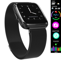 Heart Rate Fitness Watch Digital Fashion Smart Watch Women Men Steel Mesh Strap Pedometer Sports Running Wrist Watch Electronic Women Sports Watches