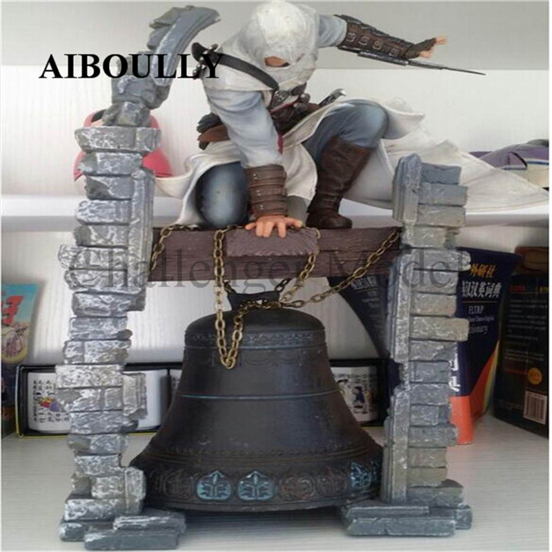 2018 New McFarland Altair Belfry Action Figure the legendary assassin American anime Resin toys 28CM gift for children 2017 new mcfarland altair belfry action figure the legendary assassin american anime resin toys 28cm gift for children