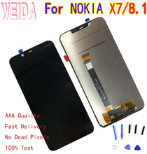 WEIDA For Nokia 8.1 TA-1131 LCD Display Touch Screen Digitizer Assembly NOKIA X7 with Tool