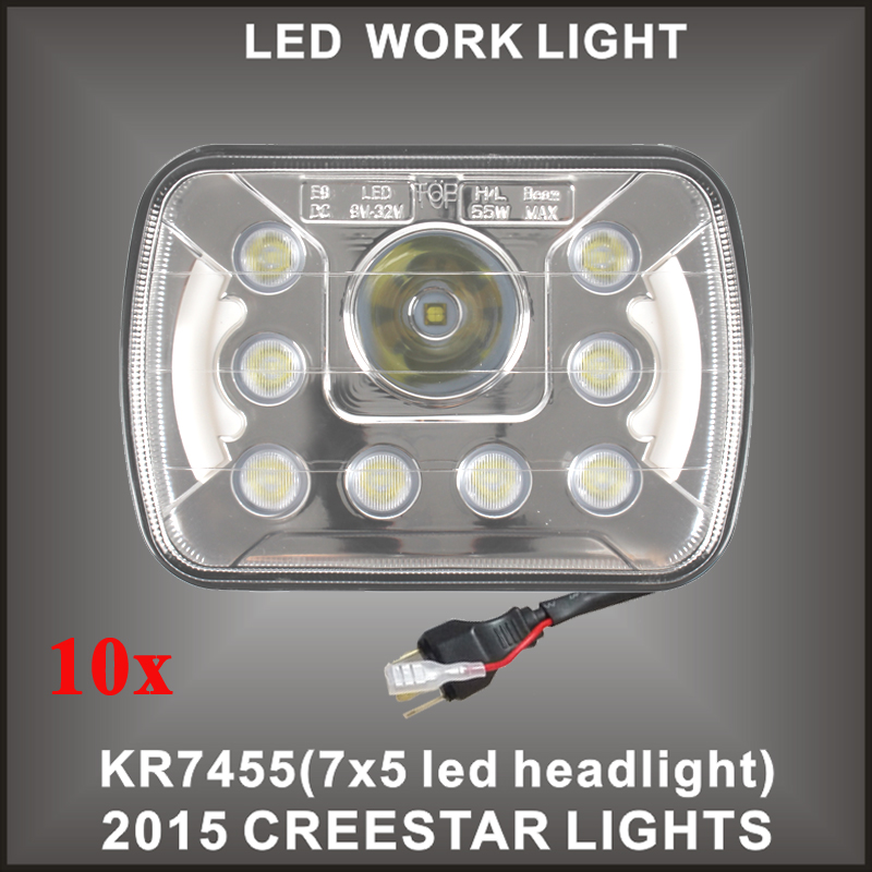 7x6 LED headlight Dot Sealed beam E9 For Truck Offroad 10PCS/LOTS Free shipping 7x5 7x6 led truck lamp