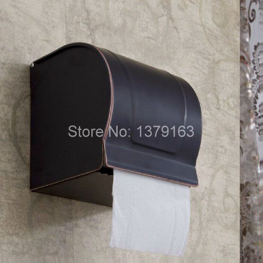 Black Oil Rubbed Wall Mounted Brass Bathroom Toilet Paper