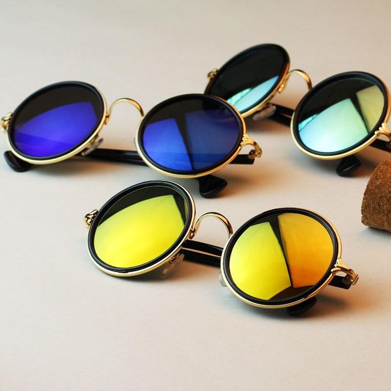 Super 3 Colors UV400 Harajuku Retro Round Glasses Vintage Sun Glasses  BY55